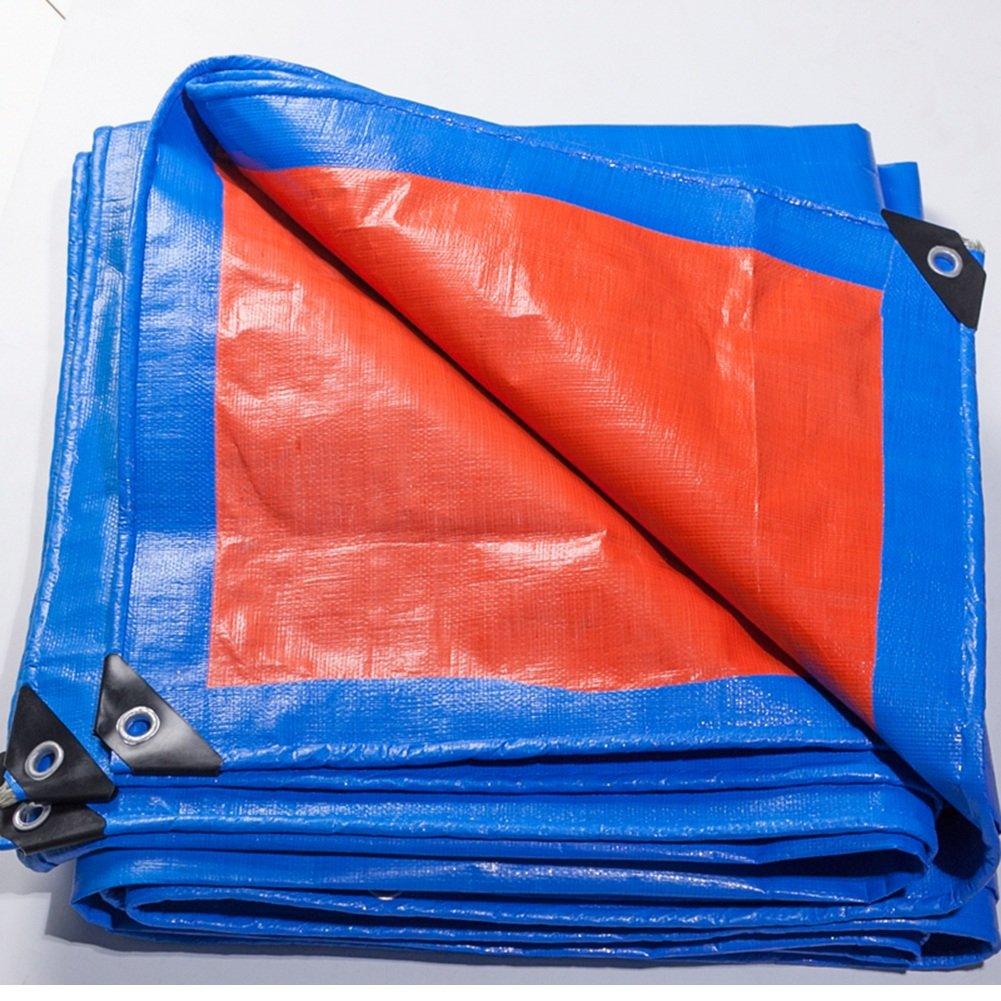 AJZXHE Plane LKW regendicht Sonnenschutz Plane Ladung staubdicht feuchtigkeitsBesteändig verschleißfest korrosionsBesteändig leichte PE, Orange + blau -Plane