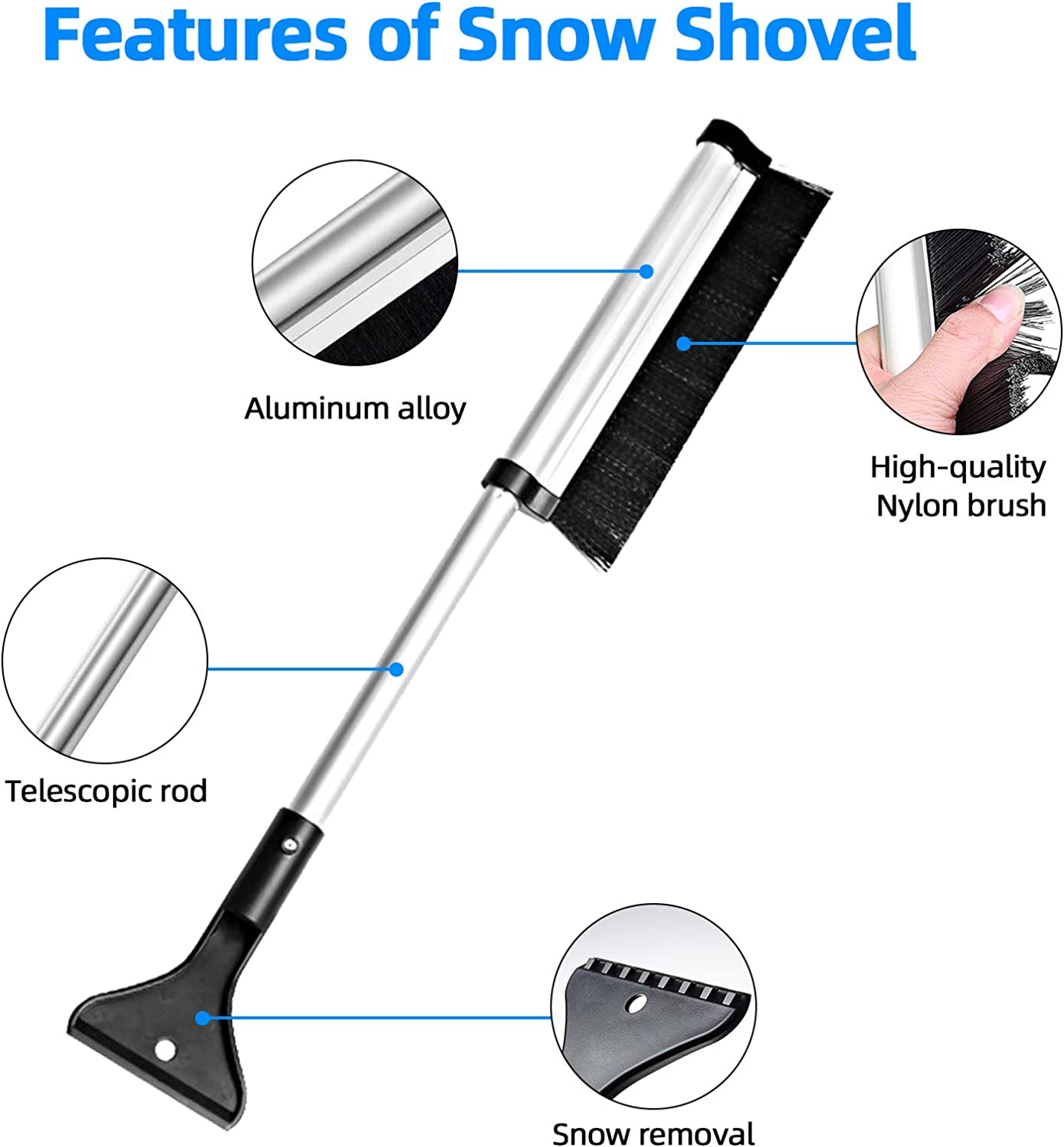 Ice Removal Wiper Protector with Side Mirror Covers,Extra Large fit for Vans,Trucks,Sedan,SUVs,Snow,Ice,Sun,Frost Defense Snow Brush/&Ice Scraper Included VOKUA Car Windshield Snow Cover