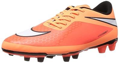 35ae77172a20 Nike Men s Hypervenom Phade FG Soccer Cleats Atomic Orange White 9.5 D(M)