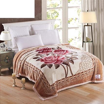 0e63c80aae Amazon.com: DFGDFHD Winter Woollen Blankets/Thicken Double-Deck ...