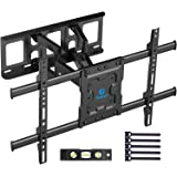 Full Motion TV Wall Mount Bracket Dual Articulating Arms Swivels Tilts Rotation for Most 37-70 Inch LED, LCD, OLED Flat Curve