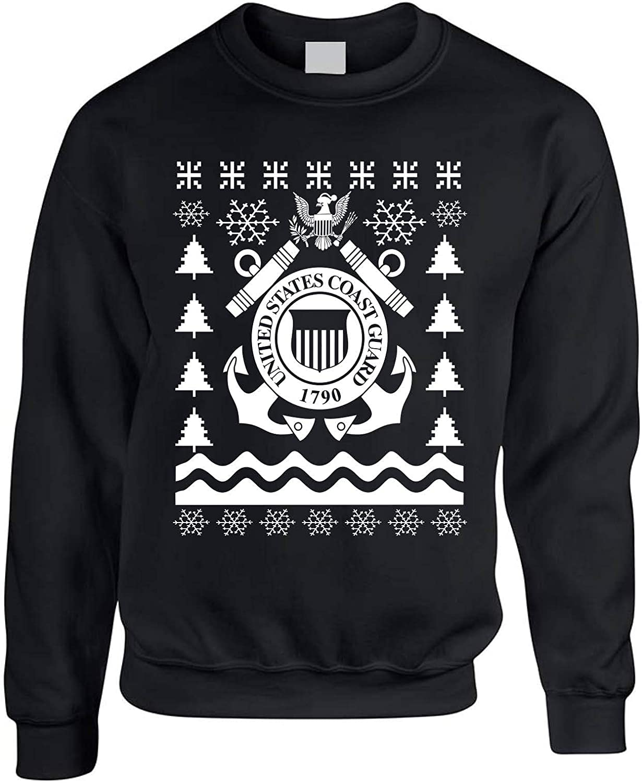 Allntrends Adult Sweatshirt Coast Guard Ugly Christmas USCG Holiday Xmas Gift