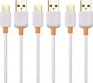 Cable Matters 3-Pack Slim Series USB C Cable with 3A Fast Charging in White 3.3 Feet for Samsung Galaxy S20, S20+, S20 Ultra, Note 10, Note 10+, LG G8, V50, Google Pixel 4, and More