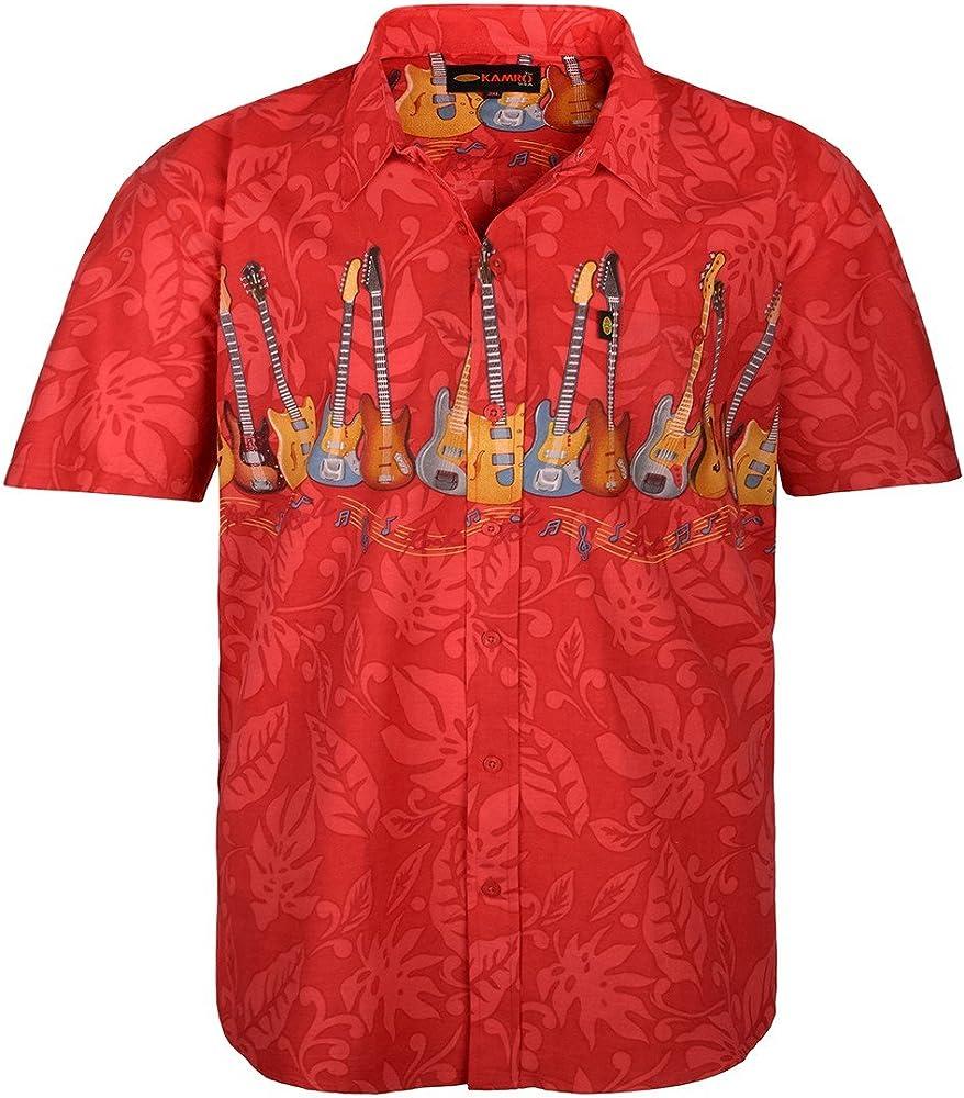 Camisa tipo hawaiana roja Kamro en talla grande, 2xl-8xl:7xl: Amazon.es: Ropa y accesorios