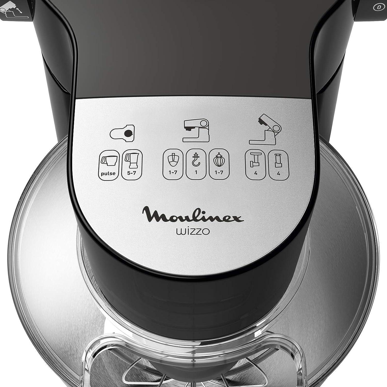 Moulinex Wizzo QA319810 Robot de Repostería de 1000 W, 7 Velocidades Acero Inoxidable, Negro: Amazon.es: Hogar