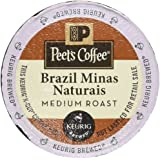 Peet's Coffee Brazil Minas Naturais Blend Single Cup Coffee for Keurig K-Cup Brewers 40 count