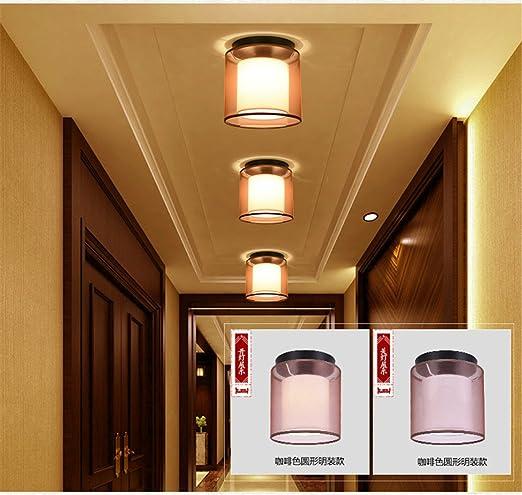 angeelee Nueva chinos Pasillo pantalla lámpara de techo ...