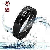 URBST Fitness Tracker,Wireless Smart Activity Trackers Wristband Blood Pressure Heart Rate Monitor Sport Bracelet Pedometer Watch