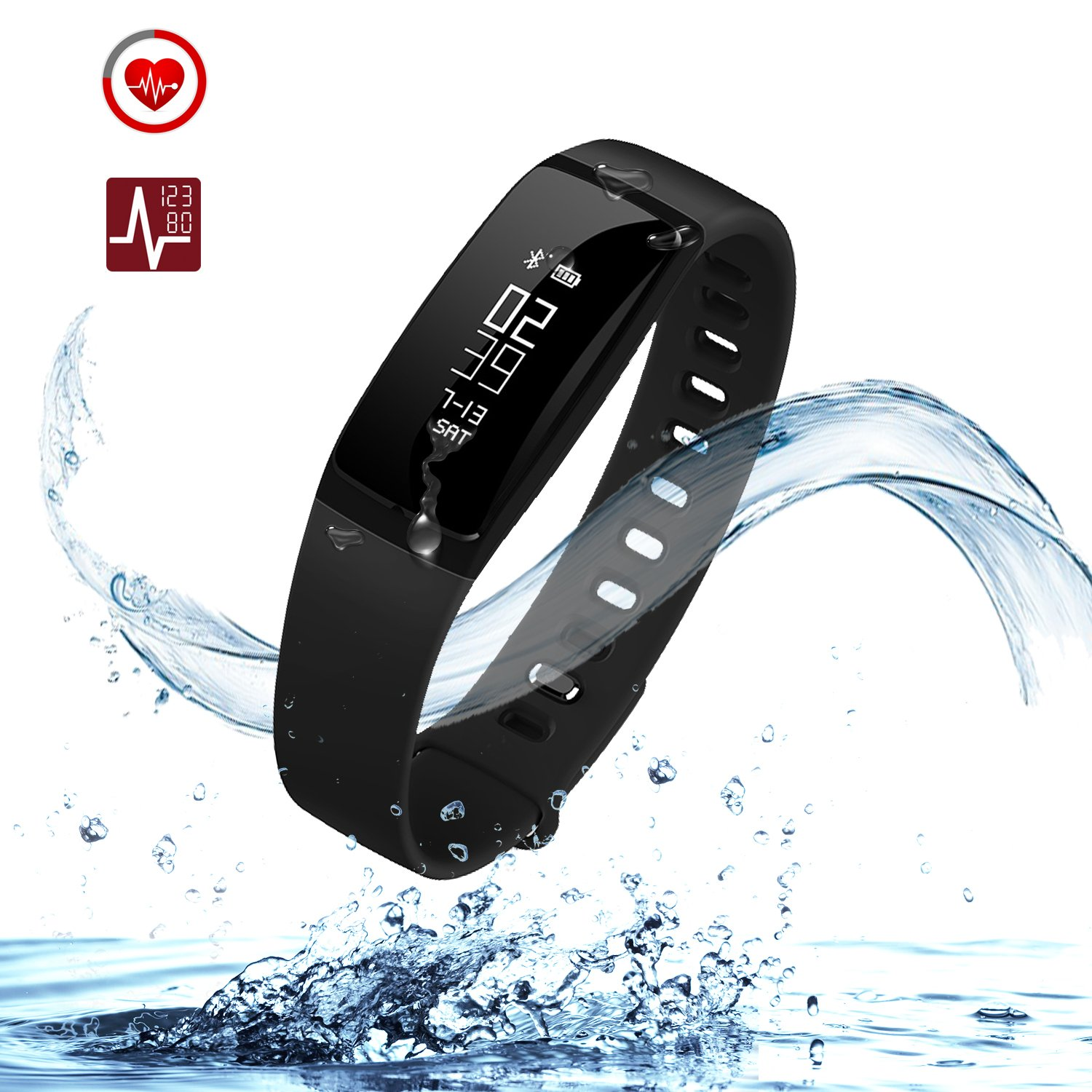 fitness wristband bracelet smart alarm rate step band watch heart tracker clock counter vibration products