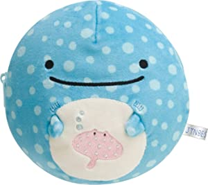 San-X JInbesan Whale Shark Super Soft Pouch Stuffed CU45201
