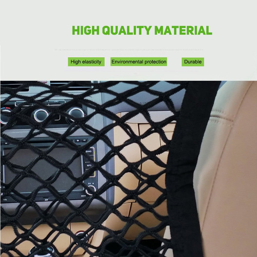 Scalability Mesh Cargo Net Hook Pouch Holder for Vehicle Safety Items Car Cleaning Tools Accessories Storage Black, 30x23cm EBILUN Universal Car Seat Storage Mesh//Organizer Car Tidy Organiser