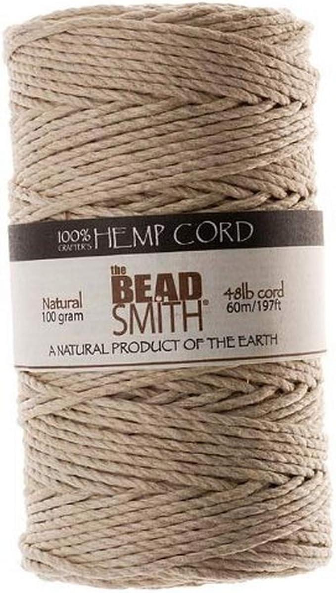 Bakers Twine 1mm Natural Hemp Twine Bead Cord Red; 60 meters long