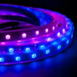 NooElec 1m 60-Pixel Addressable 24-Bit RGB LED Strip, 5V, IP68 Waterproof, WS2812B (WS2811), 4-Pin JST-SM Connectors Pre-Soldered To Both Ends