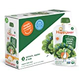 Happy Baby Organic Stage 2 Baby Food, Simple Combos, Spinach, Apples & Kale, 4 Ounce, 8 count (Pack of 2)