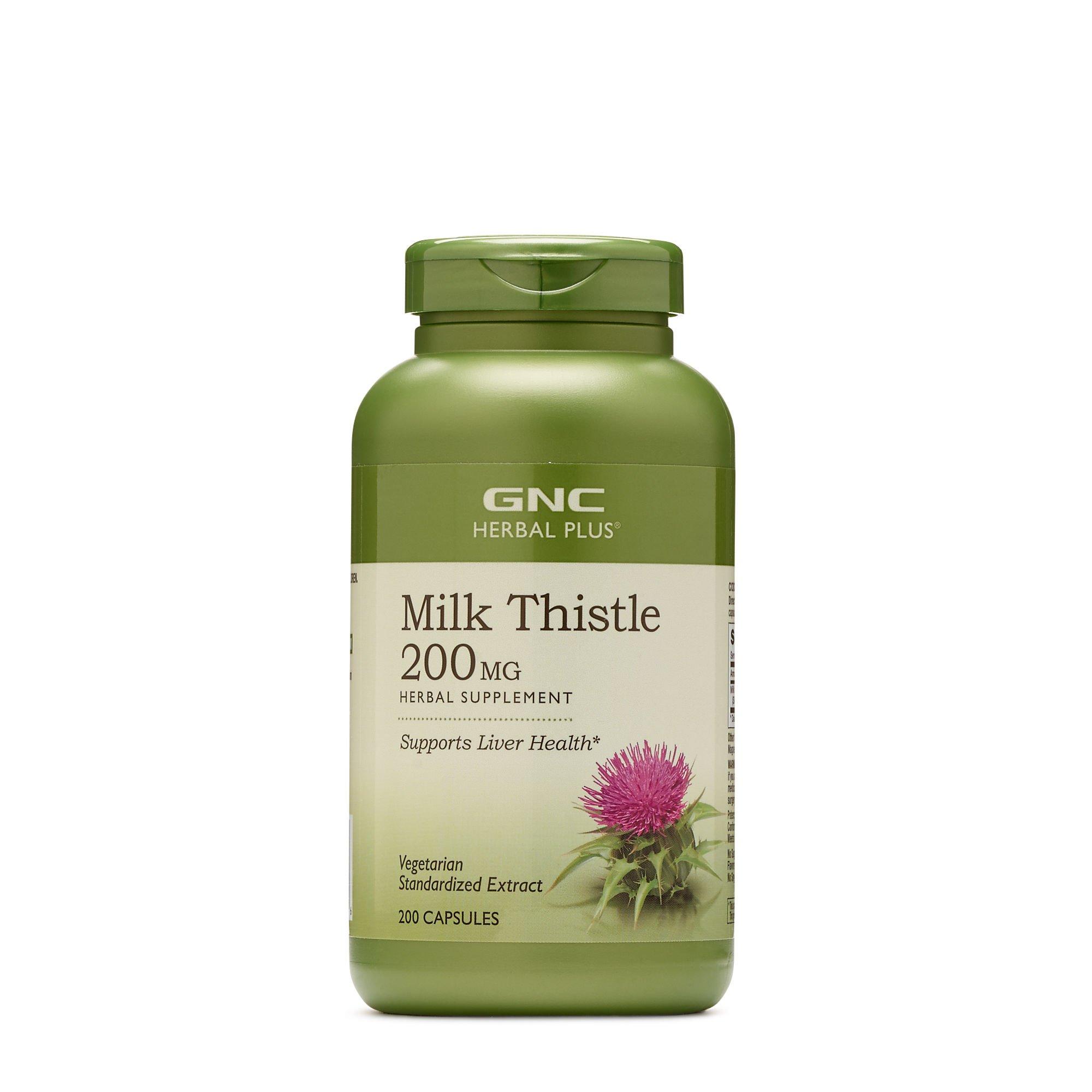 GNC Herbal Plus Milk Thistle 200 MG 200 caps