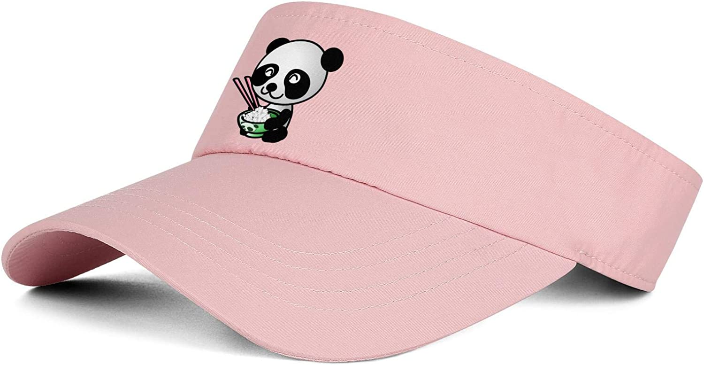 Panda Head Behind Bushes Sketch Unisex Summer Visors Hats Personalized Adjustable Ball Cap