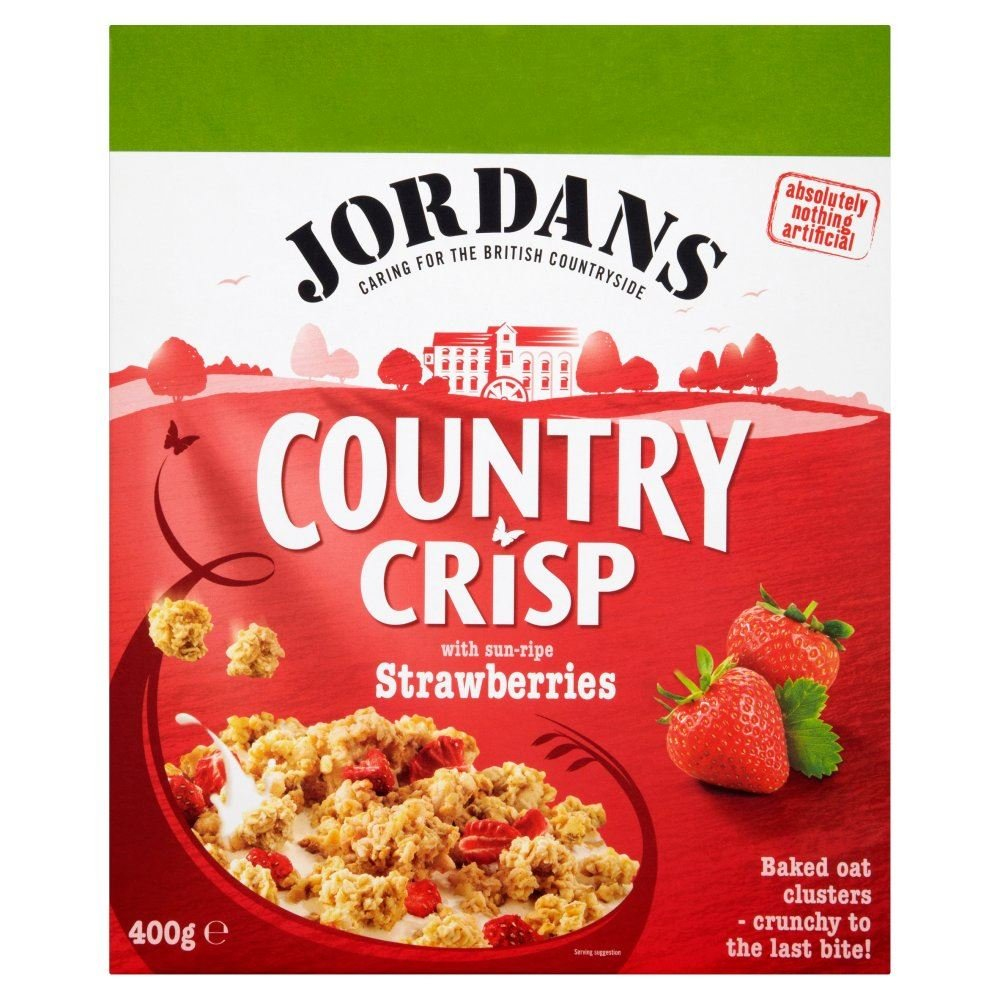Jordans Country Crisp Strawberry - 400g - Single Box (400g x 1 Box)