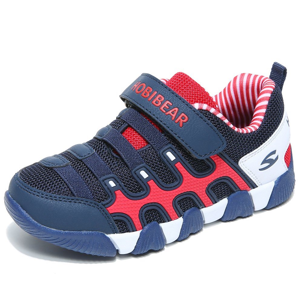 HOBIBEAR Kids Sneakers Casual Running Shoes for Boys&Girls AS3336 (Dark Blue, 3M) by HOBIBEAR