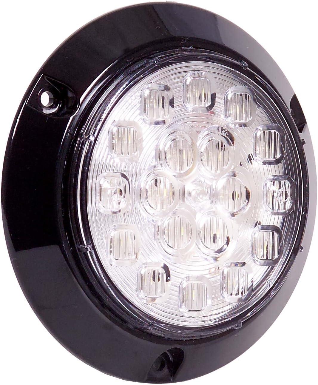 Maxxima M42321 White 4 Round Surface Mount Backup Light
