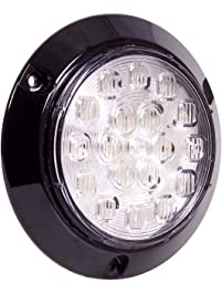 "Maxxima M42321 White 4"" Round Surface Mount Backup Light"