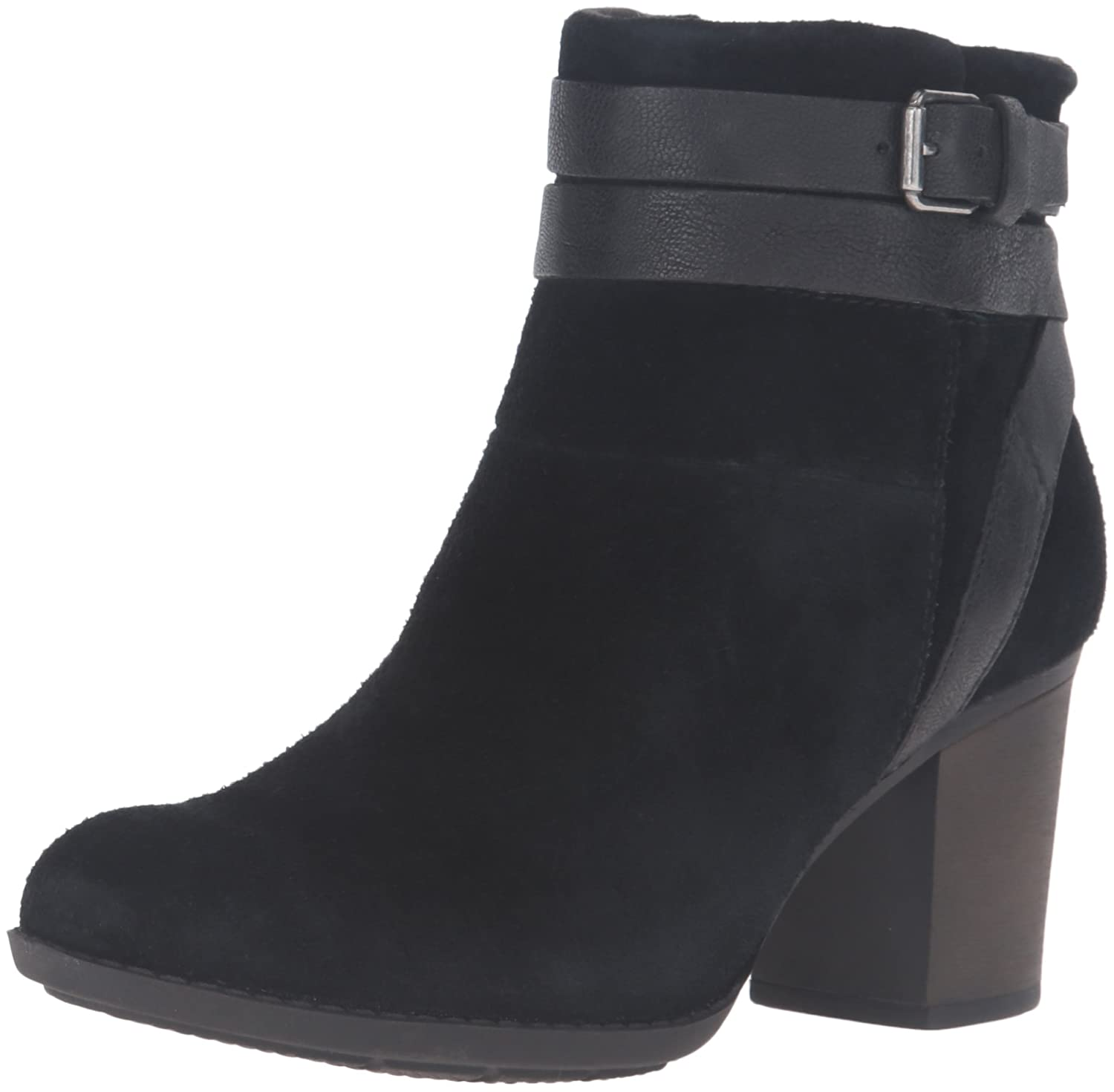 CLARKS Women's Enfield River Boot B0198WHCAG 5.5 B(M) US|Black Suede