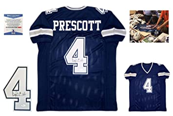 Image Unavailable. Image not available for. Color  Dak Prescott Autographed  Signed Custom Jersey ... 3e794d340