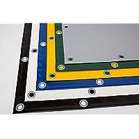 Lona para camiones (720 g/m2), lona de PVC con ojales de 12 mm, varios colores, sin dobladillo., Gris