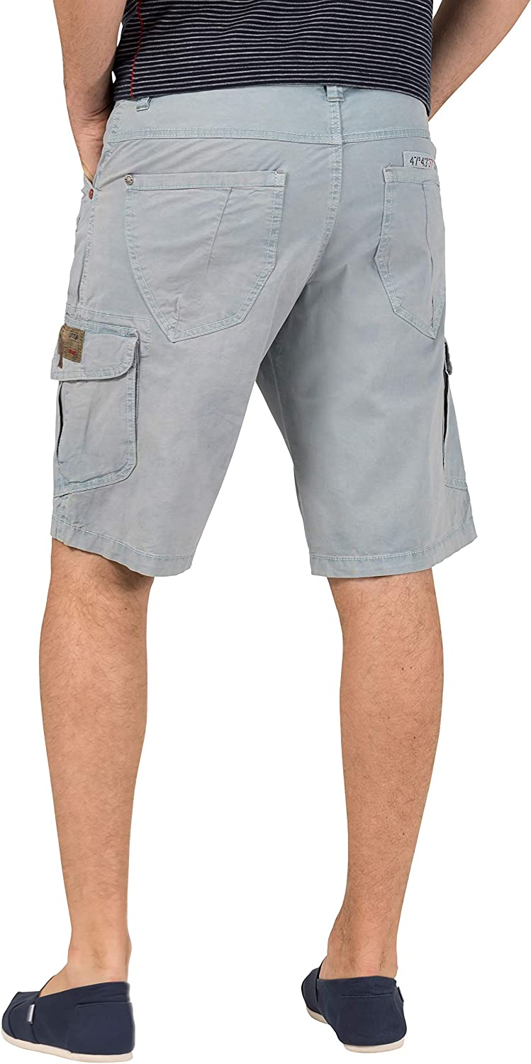 Timezone Men's Regular Rykertz Shorts Blue (Washed Light Blue 3296)
