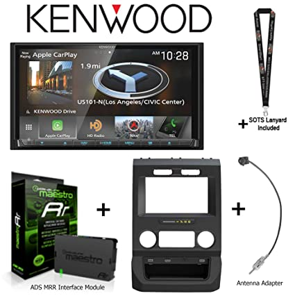 "Kenwood DNX875S 6.95"" Navigation Receiver Apple CarPlay/Android Auto, iDatalink KIT-FTR1"