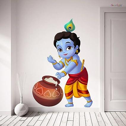 Buy Creatick Studio Bal Krishna Wall Sticker Pvc Vinyl