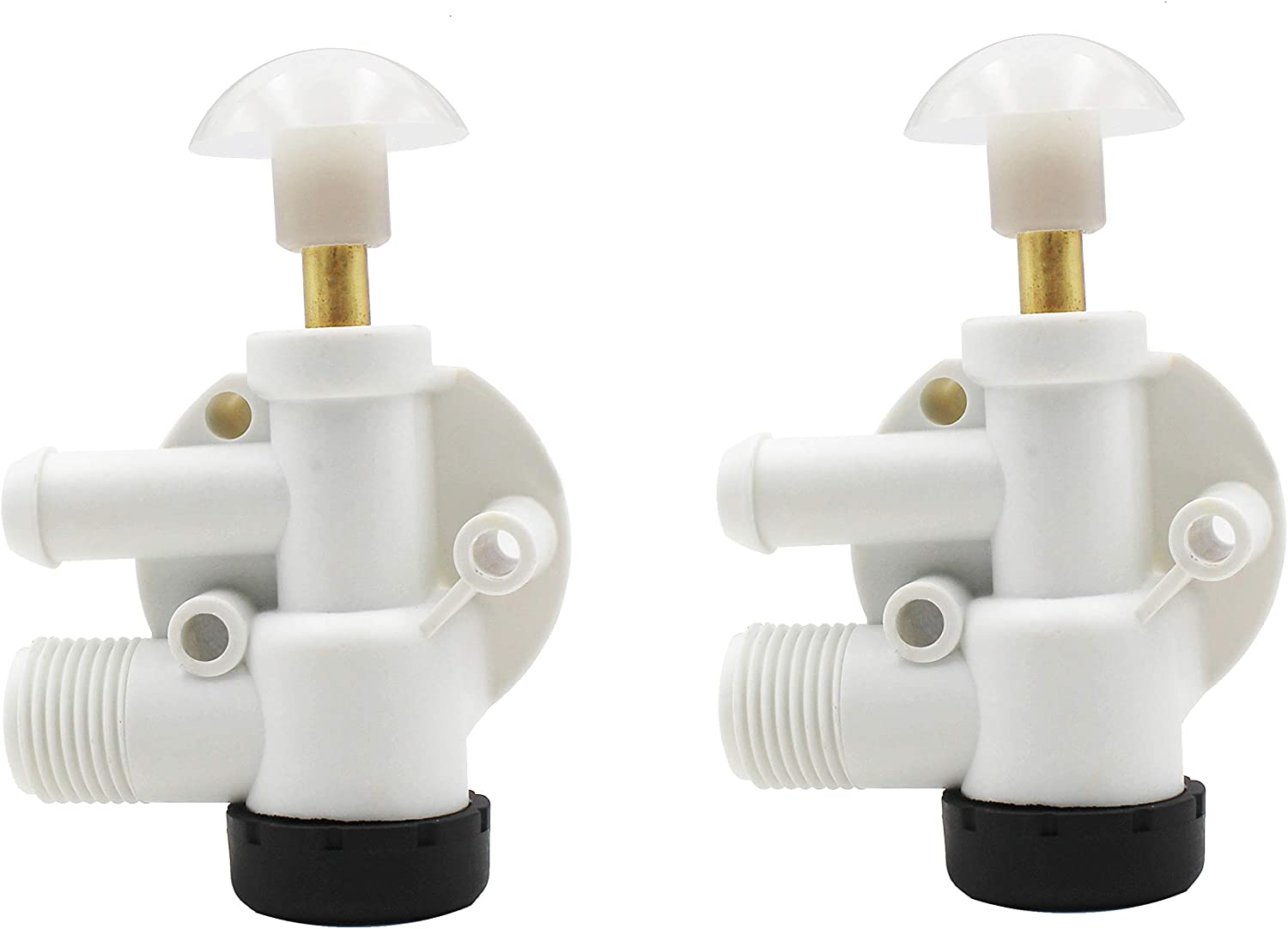 Natural Beech Lane RV Upgraded Toilet Water Valve Assembly 385314349 for Dometic Sealand EcoVac Vacuflush Pedal Flush Toilets