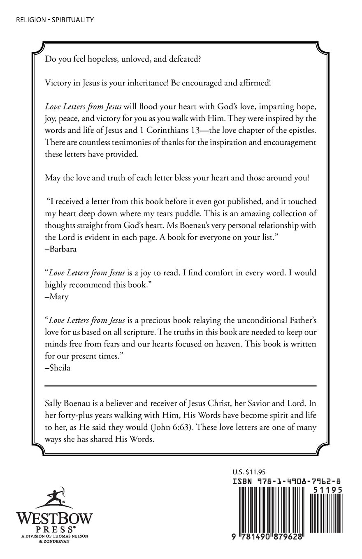 Love Letters From Jesus Only Believe Sally F Boenau 9781490879628
