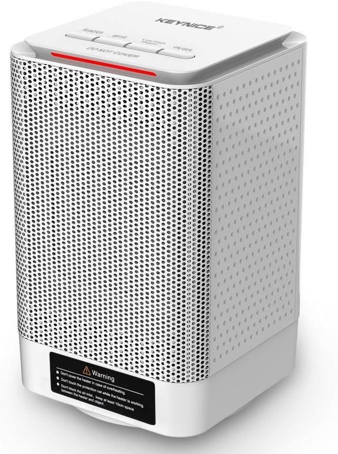 Riscaldatore elettrico portatile mini riscaldatore da scrivania con ventilatore o ufficio o casa riscaldatore spaziale in ceramica