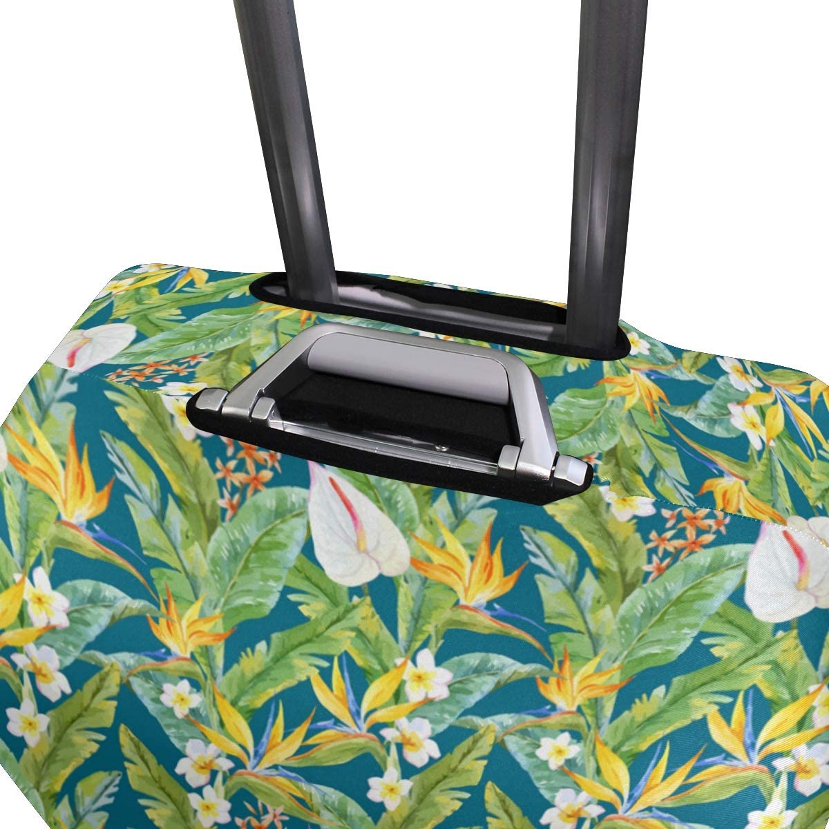 Banana Leaf Shade Traveler Lightweight Rotating Luggage Protector Case Can Carry With You Can Expand Travel Bag Trolley Rolling Luggage Protector Case