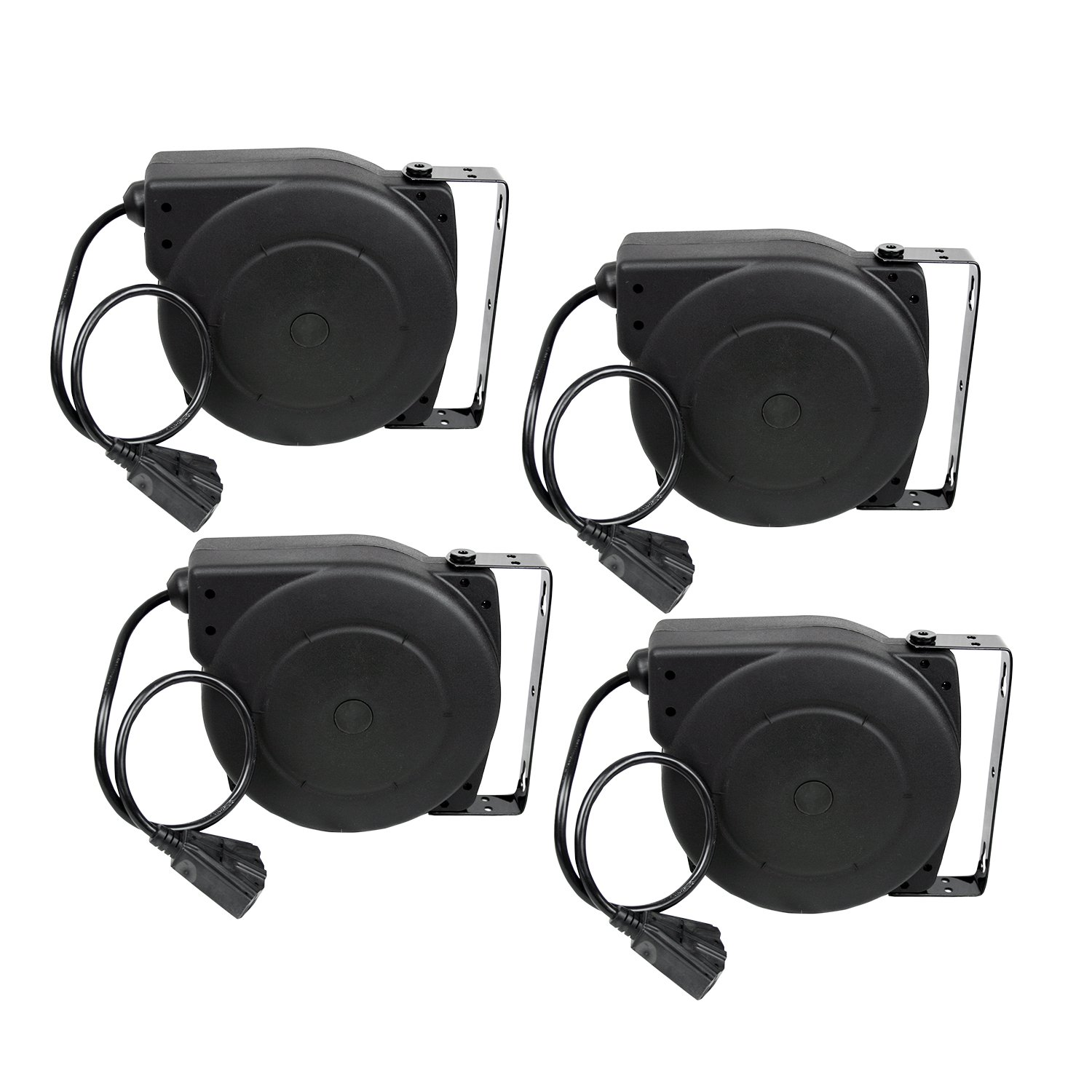 Alemite 7262-A 40-Feet 12/3 Retractable Extension Cord Reel, 4-Pack
