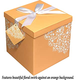 No Glue Required Tissue Paper and Gift Tag Included Ribbon Gift Box 10X10X10 Les Roses Collection EZ Gift Box by Endless Art US Easy to Assemble /& Reusable