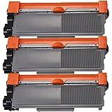 3 Inktoneram® Replacement toner cartridges for Brother TN-660 TN-630 Toner Cartridge replacement for Brother TN630 TN660 High Yield MFC-L2700DW MFC-L2720DW MFC-L2740DW DCP-L2520DW DCP-L2540DW HL-L2300D HL-L2320D HL-L2340DW HL-L2360DW HL-L2380DW