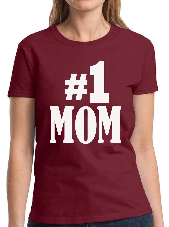 768f53e808892 Amazon.com: Vizor Number One Mom Shirt Funny Mom Shirts For Women ...