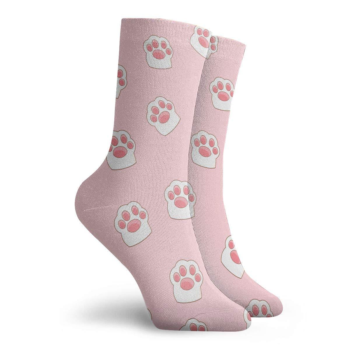 Cat Frootprint Unisex Funny Casual Crew Socks Athletic Socks For Boys Girls Kids Teenagers