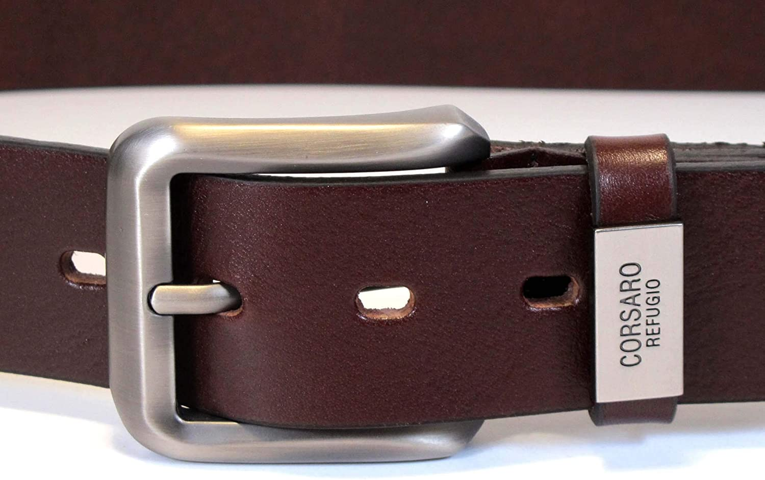 CU9 Mens Real Genuine Leather Belt Black Brown White 1.5 Wide S-XL Casual Jeans