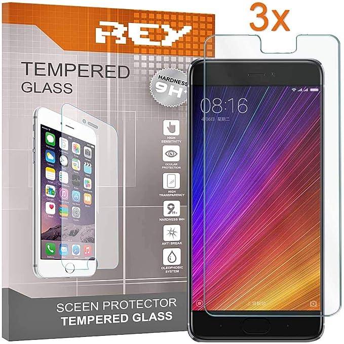 REY 3X Protector de Pantalla para XIAOMI MI 5S / MI5S, Cristal Vidrio Templado Premium: Amazon.es: Electrónica