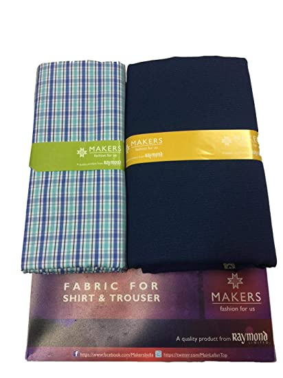 36a42a0e9 Raymond Makers Unstitched Fabric for Shirt   Trouser Combo in Gift Box   Amazon.in  Clothing   Accessories