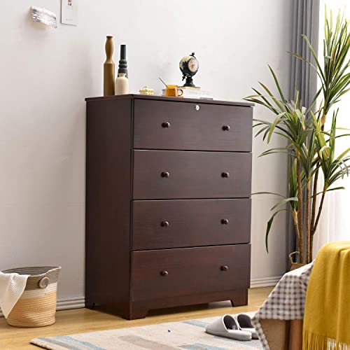 100 Solid Pine Wood Super Jumbo Chest 4 or 5 Deep Drawers Storage Dresser - the best bedroom dresser for the money