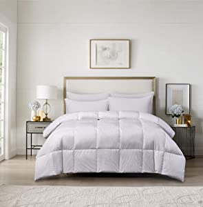 Blue Ridge Home Fashions Oslo-Year Around Warmth Goose Down and Feather Twin in White Color Down Down comforter,