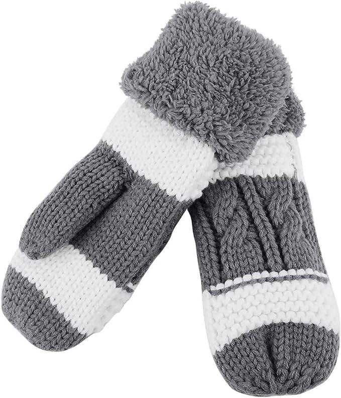 Geweih Kapuzen Handschuhe Kapuzenschal Pl/üsch Fellm/ütze yiouyisheng Damen Winter Warm M/ütze Schal Handschuhe Set