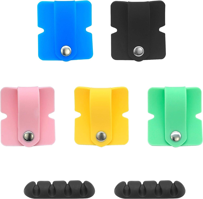6pcs Magnetic Headphone Cord Winder Earphone Wrap Organizer Cable Ties Holder US