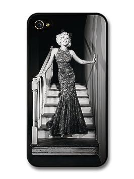 P!nk Stairs Black & White Singer Pink carcasa de iPhone 4 4S ...