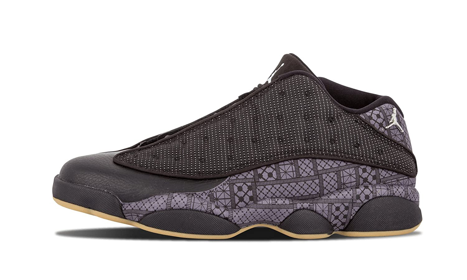Nike Air Jordan 13 Retro Low Q54, Zapatillas de Baloncesto para Hombre, Negro/Gris/Blanco (Black/Chrome-Dark Grey-White), 43 EU