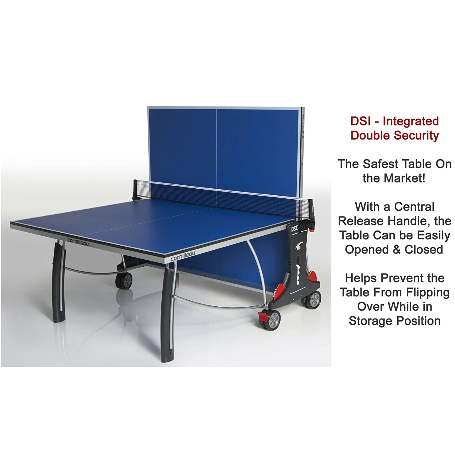 Cornilleau Sport 300 Blue Indoor Rollaway Table Tennis Table No   Amazon.co.uk  Sports   Outdoors c0023e1ed9cd