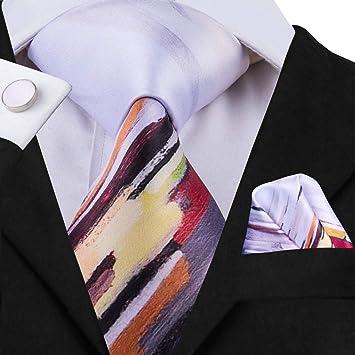 HYCZJH Conjunto de Corbata de Seda para Hombre Corbatas con ...